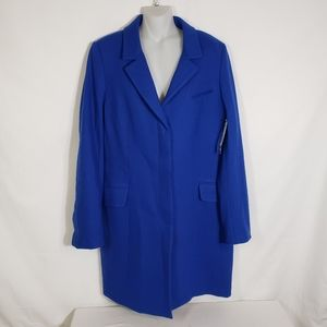 JCP Pea Coat Wool Blend Invisible Buttons Blue 16